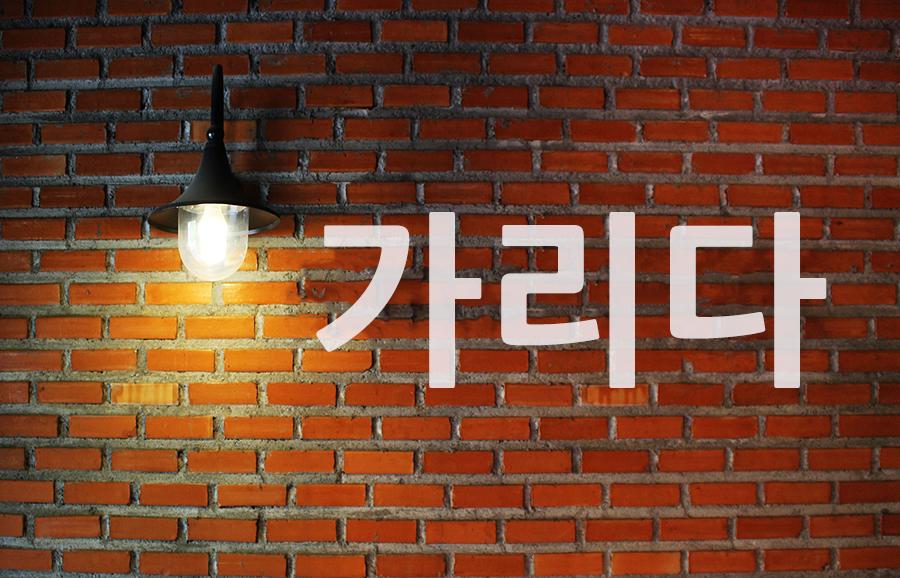 【中級】韓国語「가리다(カリダ)」を覚える