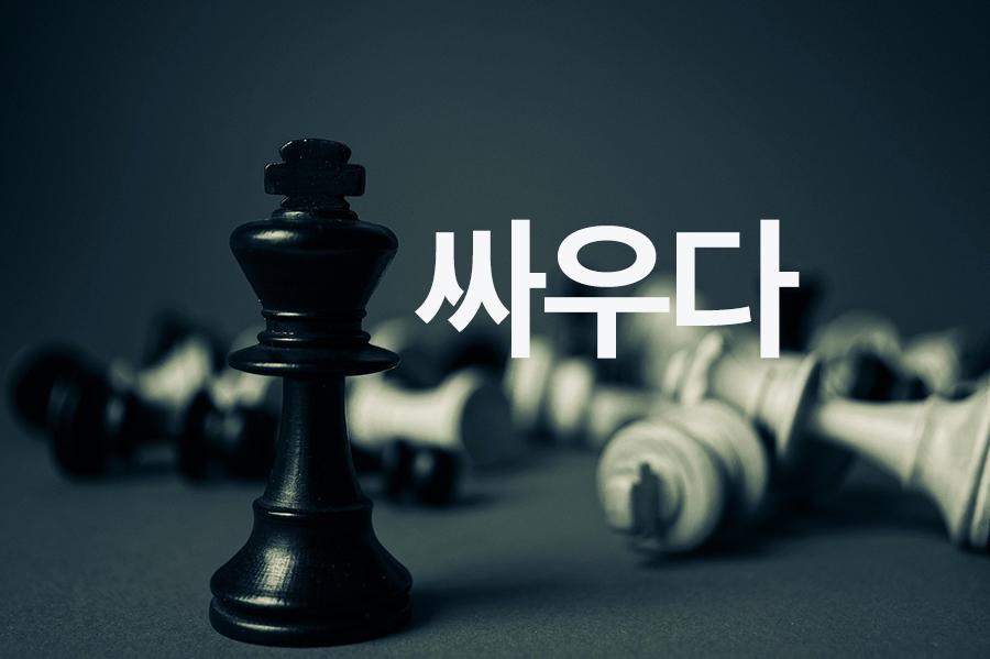 【中級】싸우다(喧嘩する、争う、戦う)を覚える