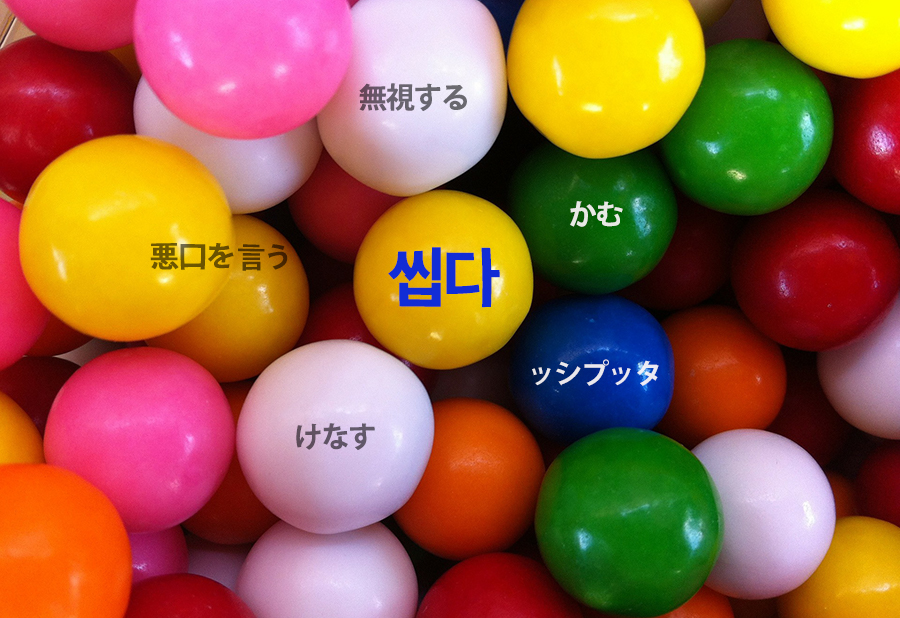 【中級】韓国語「씹다(ッシプッタ)」を覚える